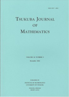 Tsukuba Journal of Mathematics (cover)